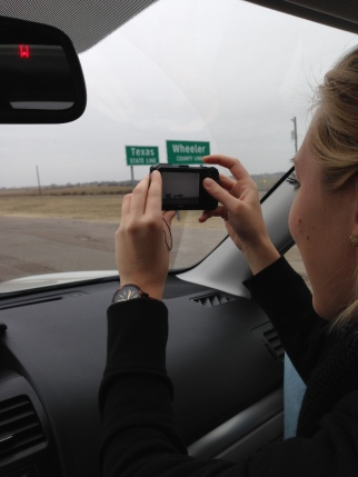 Rina being so cute taking photos as we crossed into each state.